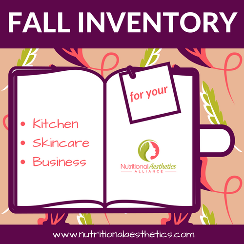 Fall Inventory for Your Kitchen, Skincare, and Business
